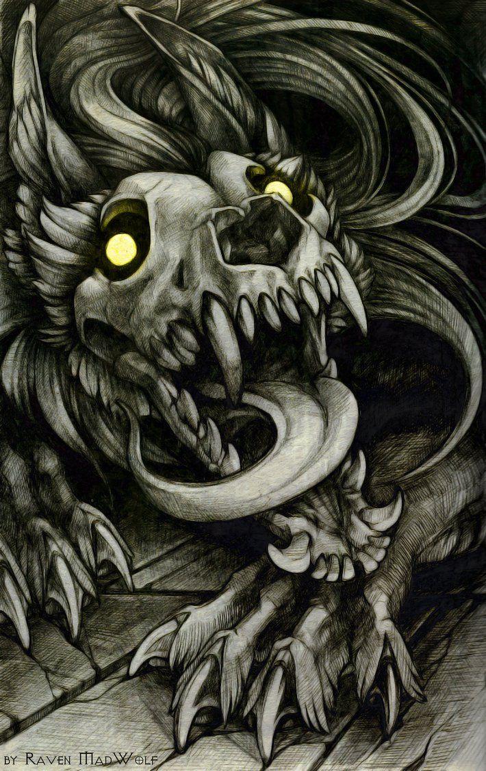 Skulldog By Ravenmadwolf On Deviantart Majestic Art