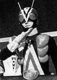 Destron-riderman disguised as the evil FAKE Destron-Rider Man