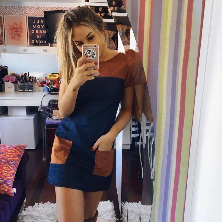"""""""Bom diaa com dress lindo da loja da migs Barbie favorita, @deleonstore! @natanadeleon suas escolhas são as melhores ❤️ adoreii!"""""""