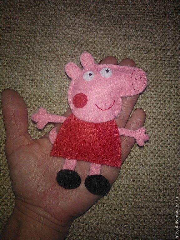 Купить Свинка Пеппа - разноцветный, свинка пеппа, фетр игровой, подарок, мультфильм, фетр