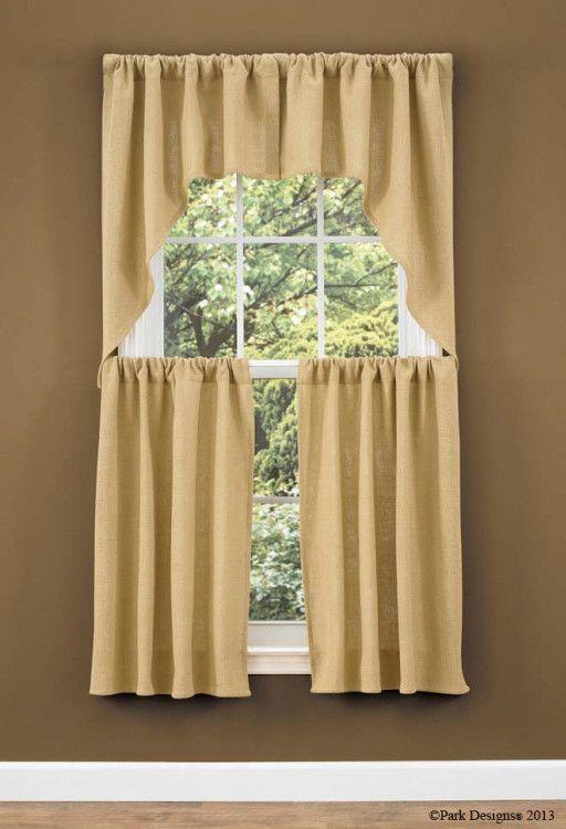 Burlap Swag Curtain