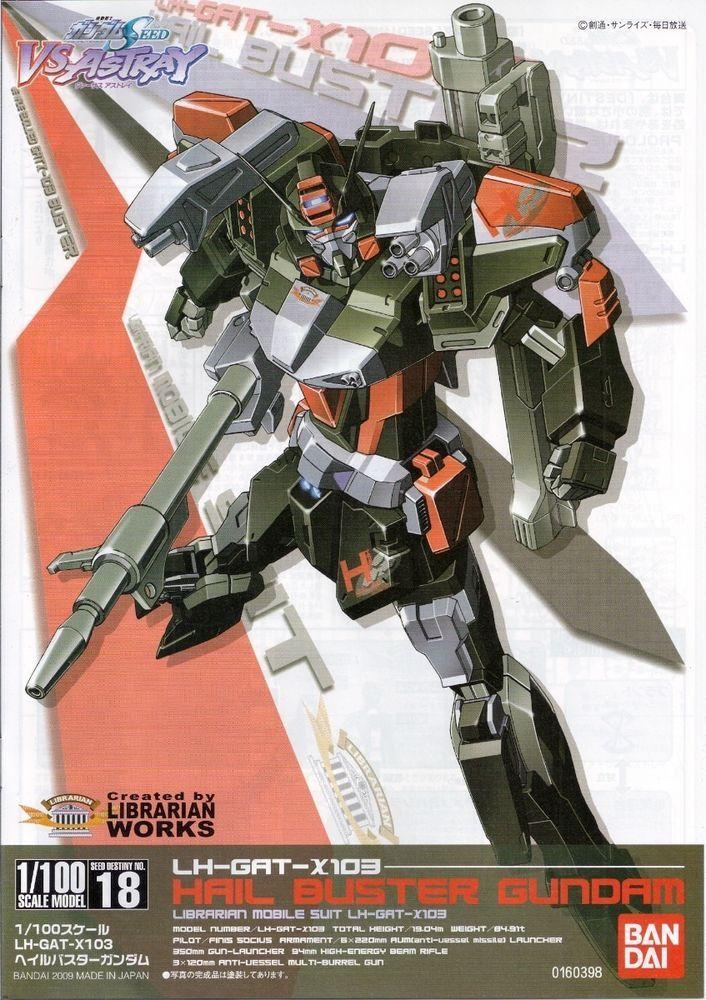 1/100 LH-GAT-X103 Hail Buster Gundam Seed Destiny Model Kit Japan