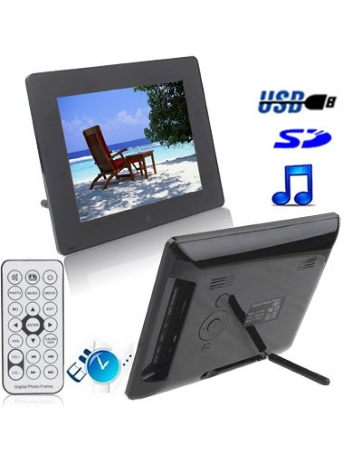 8 inch Digital Picture Frame with Remote Control Support SD / MMC / MS Card and USB (8006B)(Black) #0