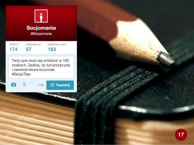 50 Twitter Tips (17). Cała prezentacja: http://www.slideshare.net/Socjomania/50-porad-jak-dziaac-na-twitterze  #Twitter #TwitterTips #SocialMedia #SocialMediaTips