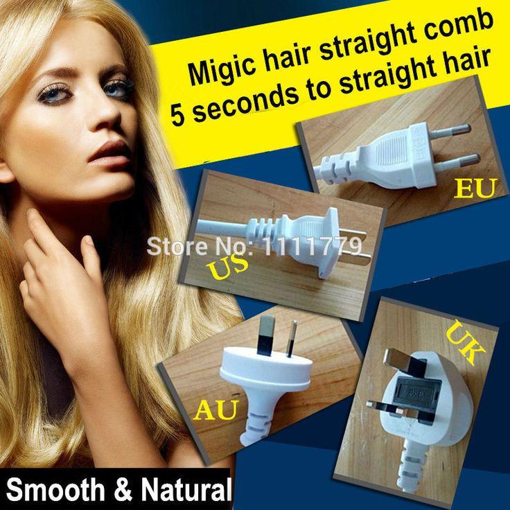 Chegada profissional alisamento ferros vêm com LCD alisador de cabelo elétrico pente escova 1 PCS alishoppbrasil