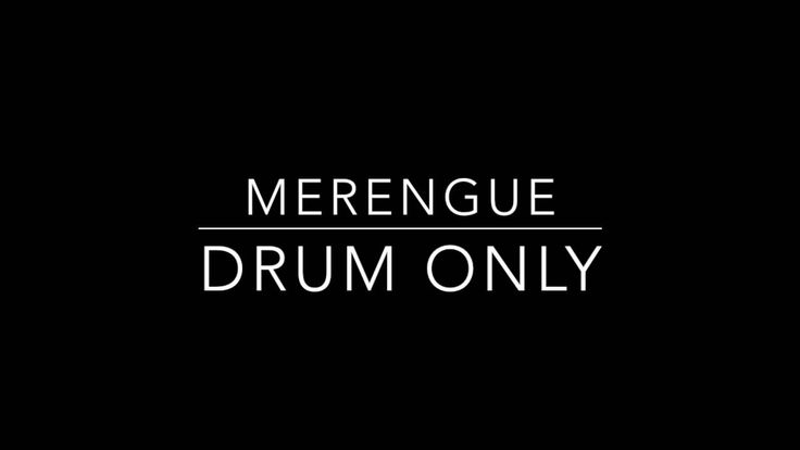 Merengue  - Drum only backing track