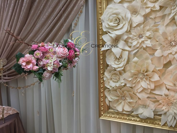 Hanging floral piece