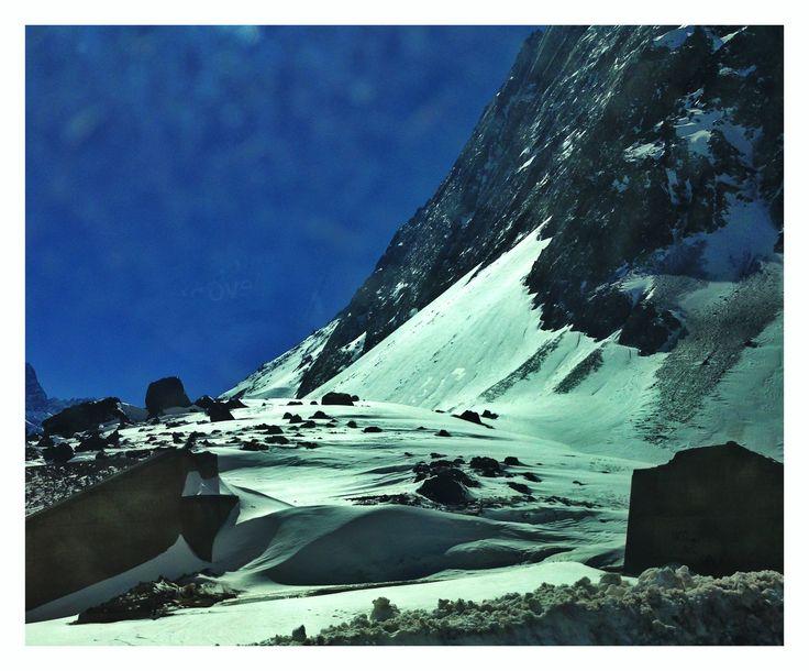 Hermosa vista de la nieve en Paso Internacional Los Libertadores #Chile