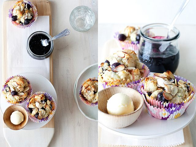 Blueberry Almond Cream Scones by Cindy | Hungry Girl por Vida, via ...
