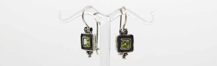 Sterling Silver Peridot Small drop earrings #sterlingsilver #peridot #dropearrings #oxidised Dreams Jewellery & Gifts Kalamunda