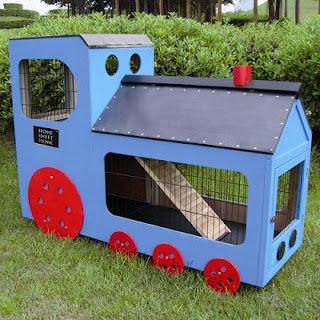 El Blog de los Conejos Enanos: Fotos de adorables casas para conejos