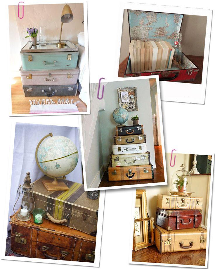 Les 25 meilleures id es de la cat gorie vieilles valises for Malle decoration maison