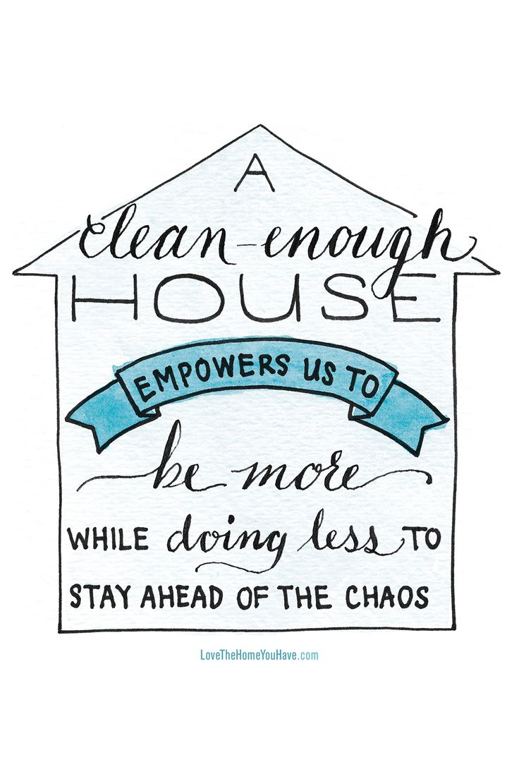 Clean Enough House Inspiration from the new book Love