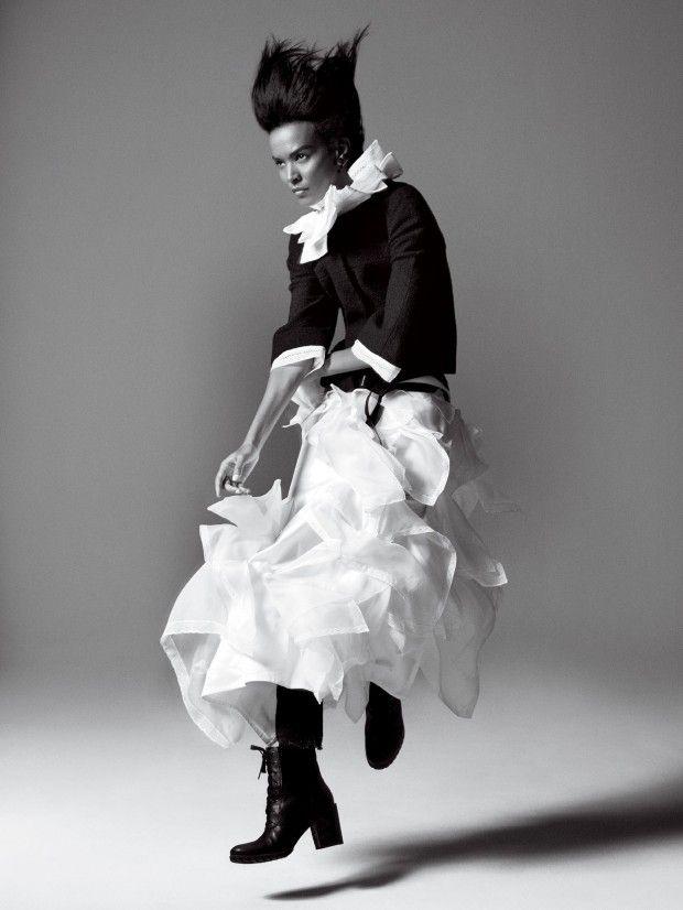 Liya Kebede works it for David Sims in Vogue US September 2015 shoot [editorial]