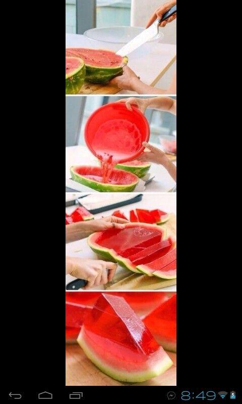 Watermelon and jello