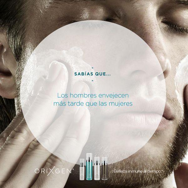 Las hormonas masculinas generan más grasa y por ello evitan la flacidez típica del paso de los años. Además, el hecho que posean una mandíbula y unos pómulos más gruesos ayuda a sostener mejor, tanto la piel, como los músculos del rostro. Al tener la piel un 20% más gruesa que nosotras sus arrugas tienden a aparecer más tarde. ;)