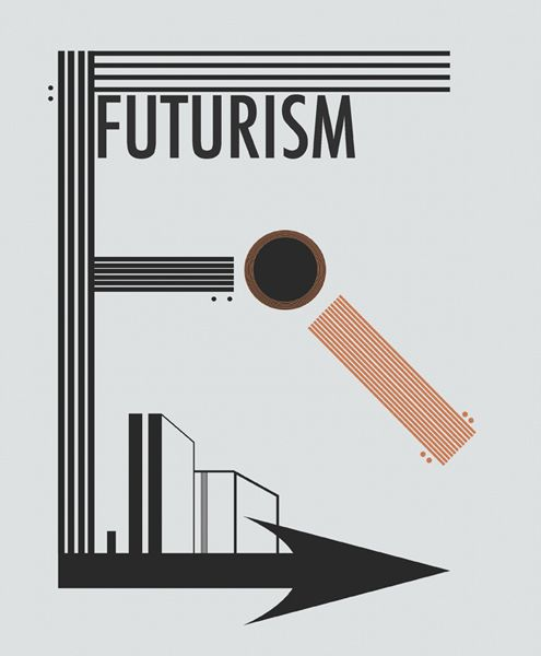 The magazine spread depicts the futurist movement of the 1920-1930's. A design movement that began in Italy which later paved the way for the Art Deco Movement and others.