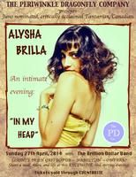 "SAVOURY EVENINGS OF SONG: Alysha Brilla & The Brillion Dollar Band - part of our ""Savoury Evenings of Song"" Series"