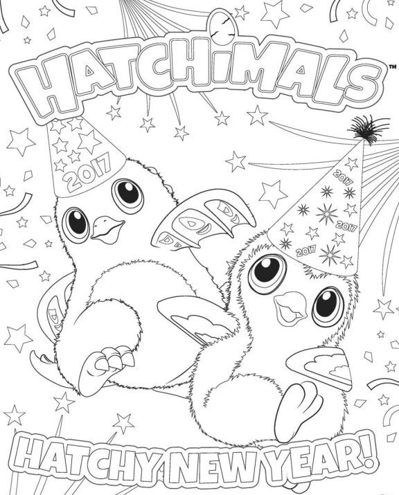 Hatchimals Coloring Page New Year Coloring Pages Coloring Pages