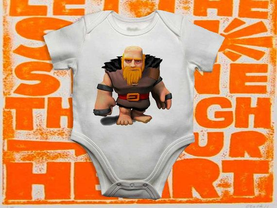 Baby bodysuit Newest clash of clans giant One Piece by froogstore