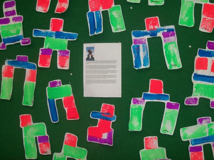 Classroom Winter Ideas ~ Inuit rock stacking inukshuk kids craft pinterest
