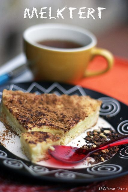 Melktert - Milk tart from South Africa, heaven on a plate