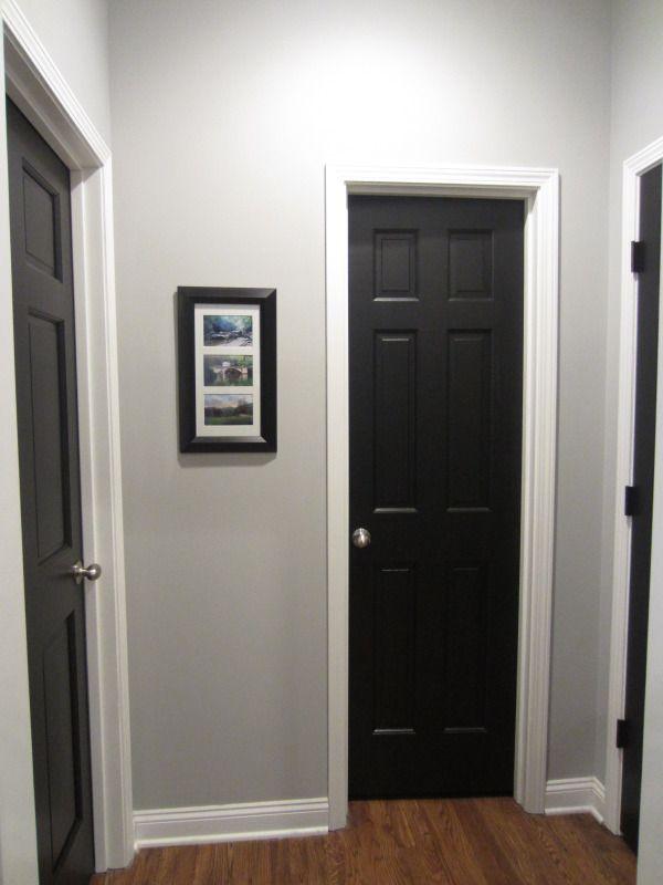 White House Black Trim Blue Door