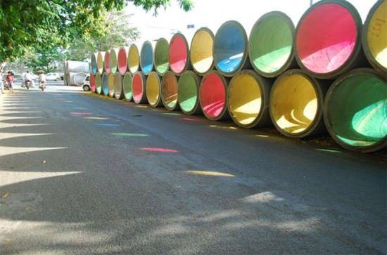 Urfun Lab installation Architecture Recycled Art Social