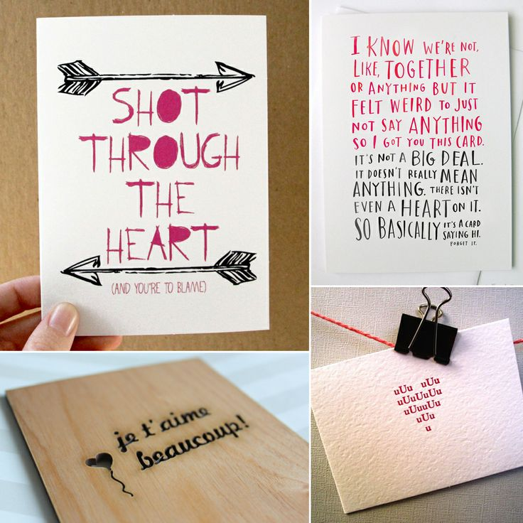 73 best images about Cards and invitations – Clever Valentine Cards