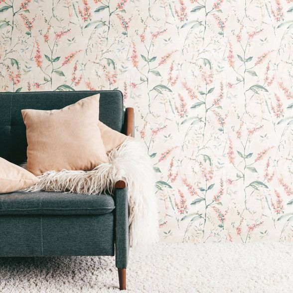 Tempaper Marrakesh Self Adhesive Removable Wallpaper Pink Gold Pink And Gold Wallpaper Removable Wallpaper Peel And Stick Wallpaper