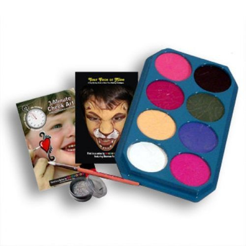 Clown Antics Jumbo Rainbow Face Paint Kits (8 Colors)