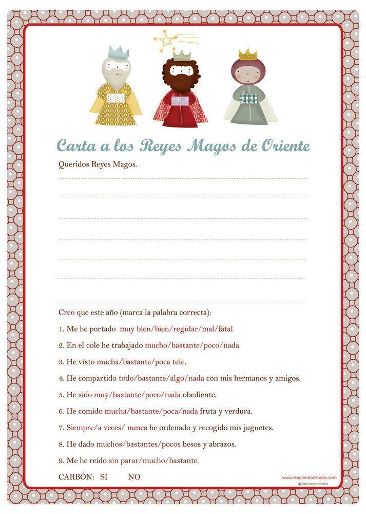 Cartas para los Reyes Magos imprimibles.