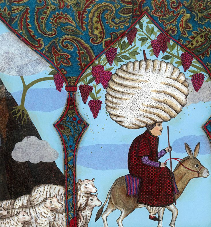 "Delphine Jacquot illustration for ""A Thousand and One Nights""."