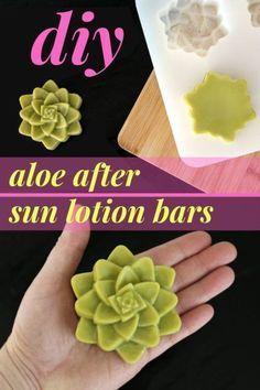 Aloe After Sun Lotion Bar Recipe for Natural Summer Skin Care. This natural aloe…
