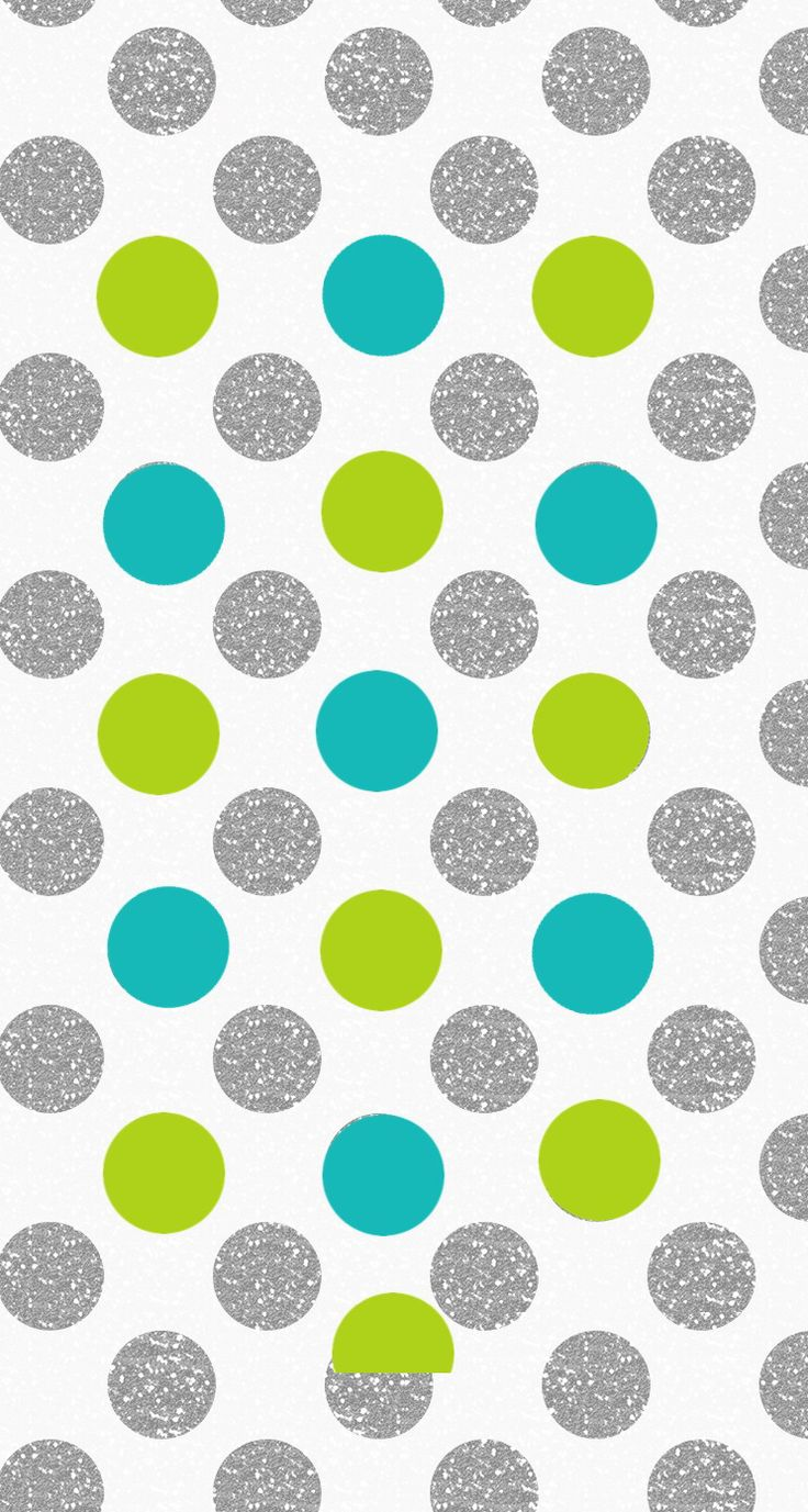 Silver Lime jade polka dots spots iphone wallpaper phone background lock screen