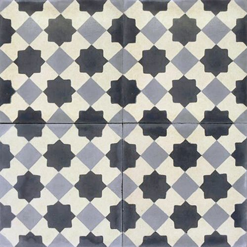Contemporary / Contemporáneo  design, Authentic  Hydraulic Andalusian Tiles for both the floor and wall. MOD-133-B