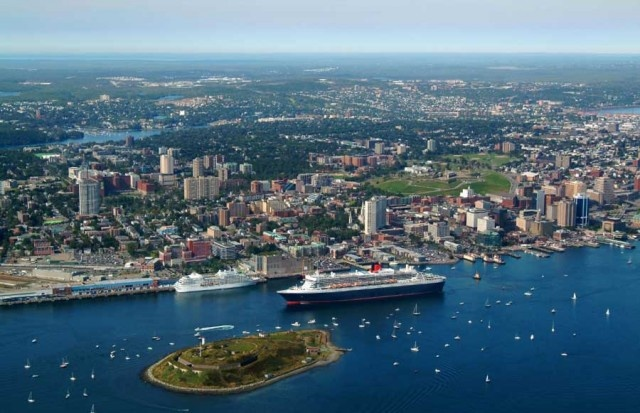 Historic Halifax Cruise ships are impressive to watch as they navigate the harbour, bringing tourists to our fair city  http://www.mervedinger.com