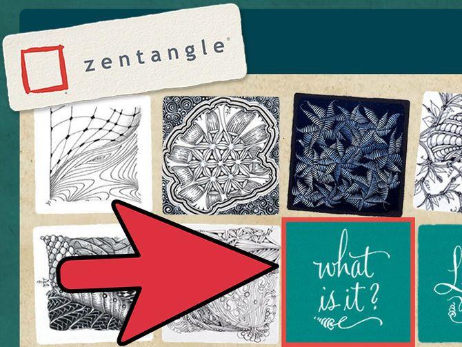 Как нарисовать Зентангл