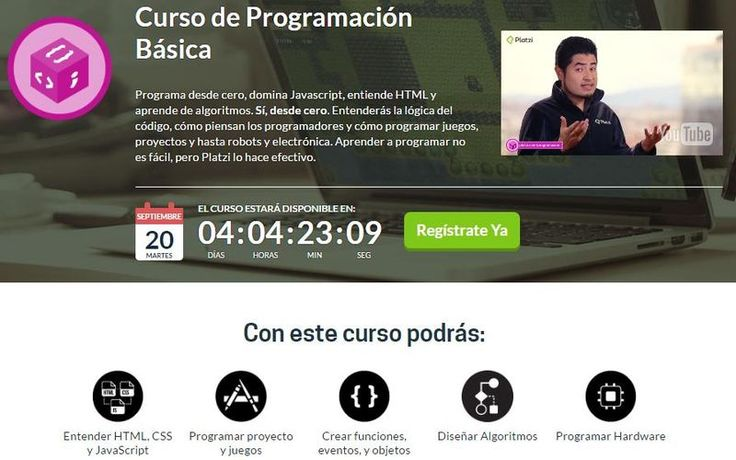 Curso de Programación básica, totalmente gratuito y para seguir online. Aprende…