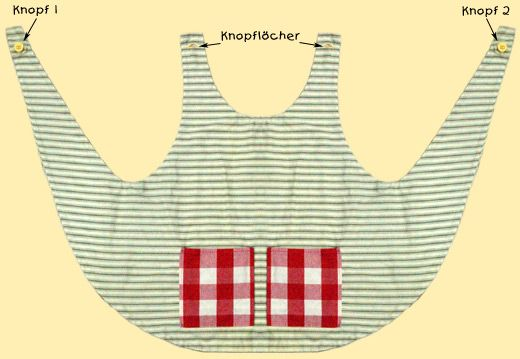 Pippi style smock apron----Tonias Langstrumpf-Schürze} ╭⊰✿Teresa Restegui http://www.pinterest.com/teretegui/✿⊱╮