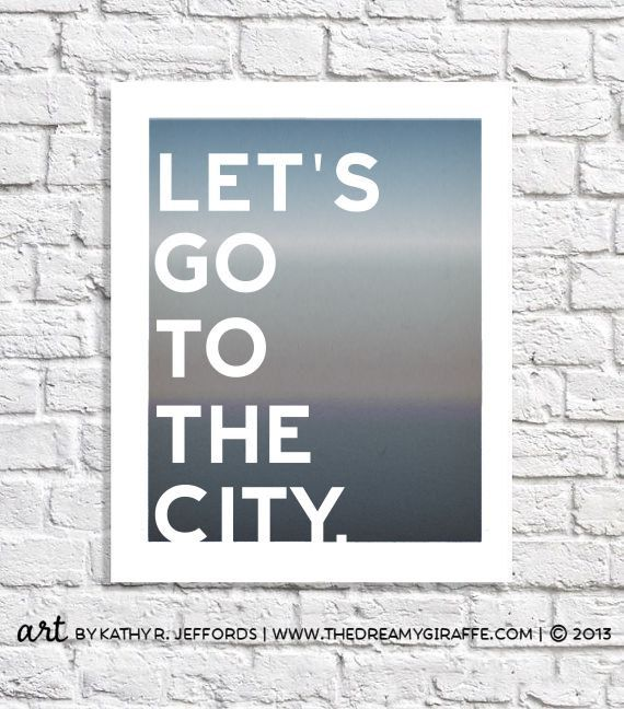 City Art Print Word Wall Sign Travel by thedreamygiraffe on Etsy