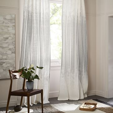 Echo Print Curtains (Set of 2) - Platinum #westelm