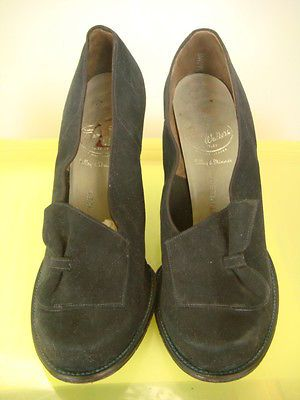 "Original Vintage 1940's ""Town Walker"" by Selby Blue Suede Shoes Size UK 4?"