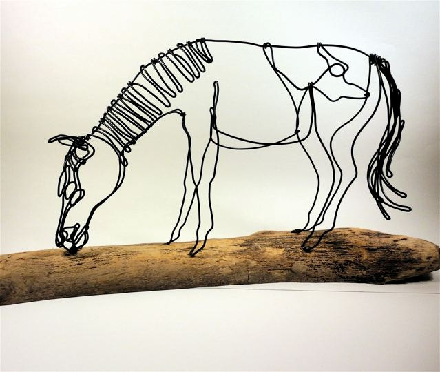 Horse Wire Sculpture - wired by bud
