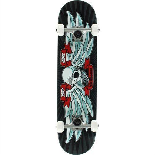 "Birdhouse Skateboards Beginner Grade Tony Hawk Flying Falcon Complete Skateboard 7.5″ , Black: 7.5"" 7 ply hard rock Maple deck Birdhouse…"