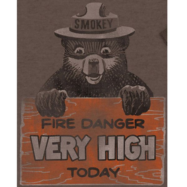 Retro tee features classic cartoon character from United States Forest Service commercials. Available in S, M, L, XL, XXL, screen printed on ultra soft fabric.