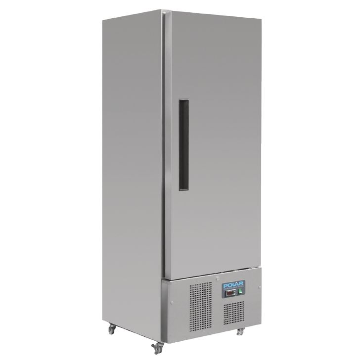 Polar Single Door Slimline Fridge Stainless Steel 440Ltr - G590