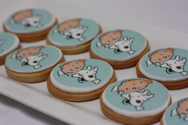 Tintin Party biscuits • Tintin gateaux