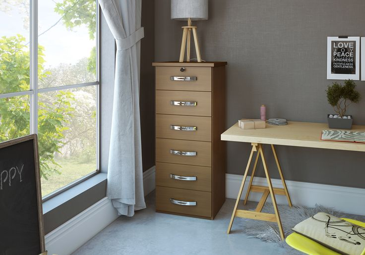 Essa mini-cômoda vai deixar seu home-office organizado e incrível :)