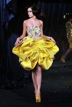 Yellow Ball Dress  Dior 2008